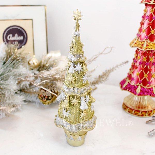 【即納可!】クリスマスアイテム♪スタータッセルツリー・ライムグリーン(H22cm)