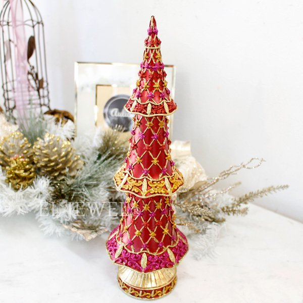 【即納可!】クリスマスアイテム♪ダイヤモンドツリー・チェリー(H33cm)