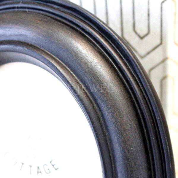 【即納可!】オーバルフォトフレーム・ブラック(16.5×21cm)