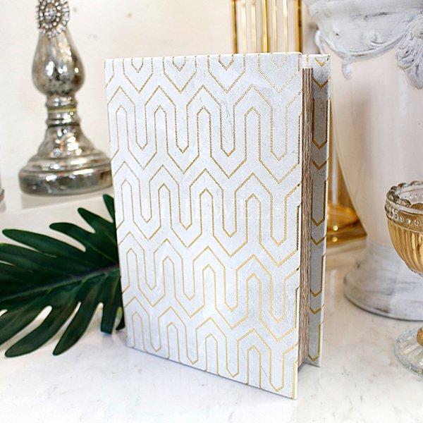 【即納可!】ブックボックス・ホワイトL(14.5×21×5cm)