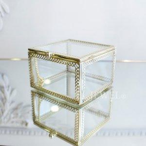 小物入れに♪ガラスケース・正方形(W9×H6cm)