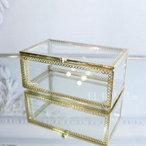 【即納可!】小物入れに♪ガラスケース・長方形(W14×H6cm)