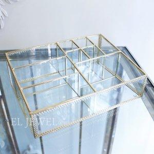 【即納可!】コスメアイテムの収納に♪ガラスケース・マルチボックス