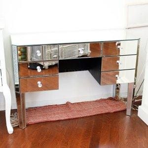 【即納可!】ミラー家具・ドレッサー・チェスト(W110×D40×H76cm)