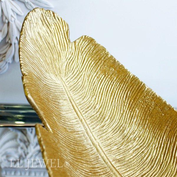 ボタニカルプレート・ゴールドリーフ(W49cm)