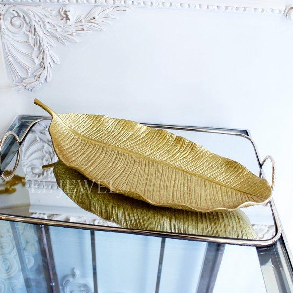 【即納可!】ボタニカルプレート・ゴールドリーフ(W44cm)