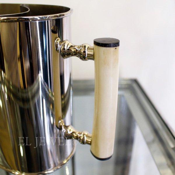 【即納可!】取っ手付きワインホルダー・シルバー(H17.5cm)