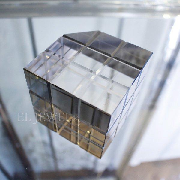 【即納可!】インテリアオブジェ・キューブ・シルバーブラック(8cm)