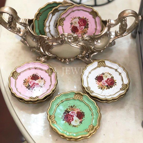 ローズデコミニトレイ・3枚set(φ10cm)