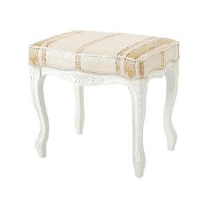 【セール!】【Fiore】ロココ調白家具 スツール・ホワイト