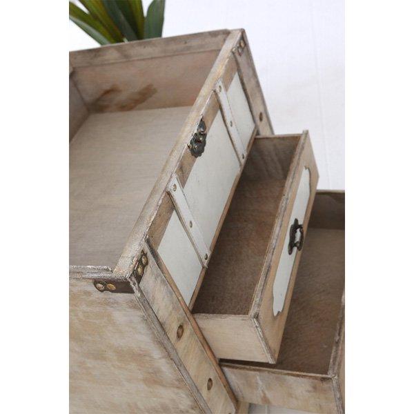 【即納可!】【COVENT】引出付きトランク♪ラテ・キャビネットボックス(W46×D31.5×H49cm)