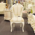 <b>【セール!】</b>【Fiore】ロココ調白家具 ダイニングチェアー・ホワイト×ベージュ系<img class='new_mark_img2' src='https://img.shop-pro.jp/img/new/icons24.gif' style='border:none;display:inline;margin:0px;padding:0px;width:auto;' />