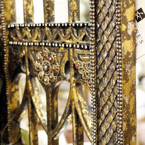 【即納可!】Katherine's Collection キラキラ「キング・オブ・スカル」3つ折りパーテーション(H54cm)