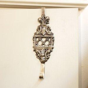 【即納可!】真鍮製トリアノンドアハンガーシルバー・トレリス(W7×H22cm)