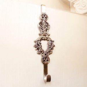 【即納可!】真鍮製トリアノンドアハンガーシルバー・フェザー(H22cm)