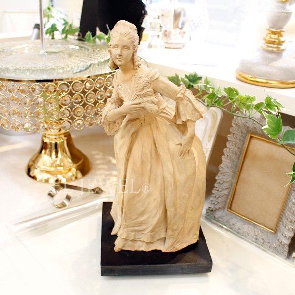 【即納可!】【限定品!1点もの】フランス製・貴婦人のヴィンテージスタチュー(H33cm)