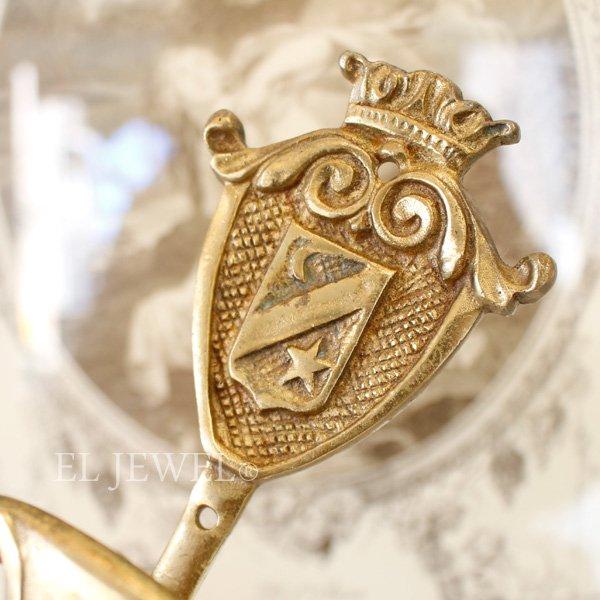 【即納可!】【限定品!1点もの】フランス・ヴィンテージ 真鍮フック・ゴールド(14cm)