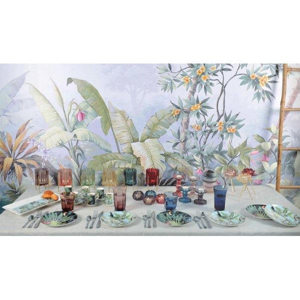 【即納可!】【フランス-Aulica-】ガラスキャンドルホルダー全6色(H16cm)