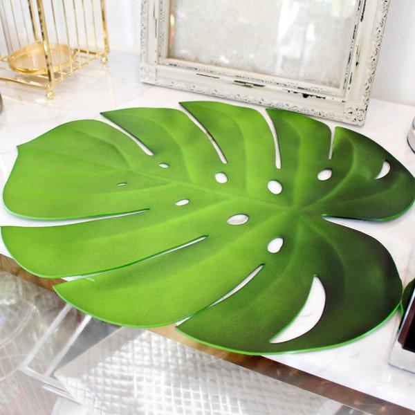 【即納可!】【フランス-Aulica-】バナナの葉プレースマット(45×38)