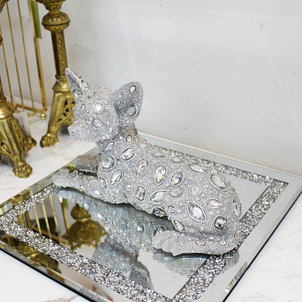【即納可!】【GARUDA-ベルギー】キラキラ☆アニマルオブジェ・チワワ(27cm)