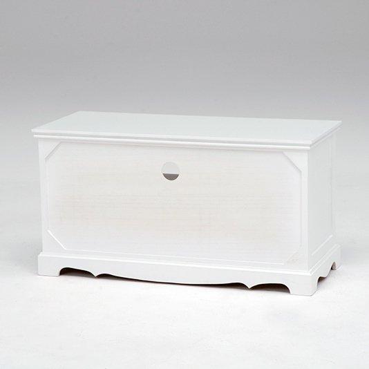 【セール!】フェミニンな白家具♪テレビ台・ホワイト(W80×D33.5×H42cm)
