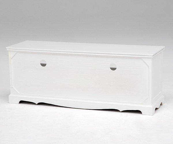 【セール!】フェミニンな白家具♪テレビ台・ホワイト(W110×D33.5×H42cm)