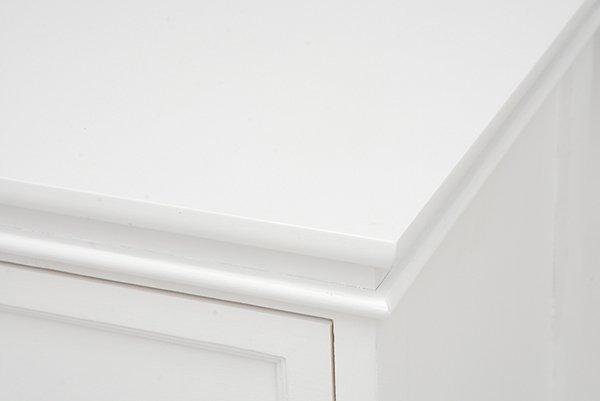 【セール!】フェミニンな白家具♪4段チェスト・ホワイト(W50×D33.5×H91cm)