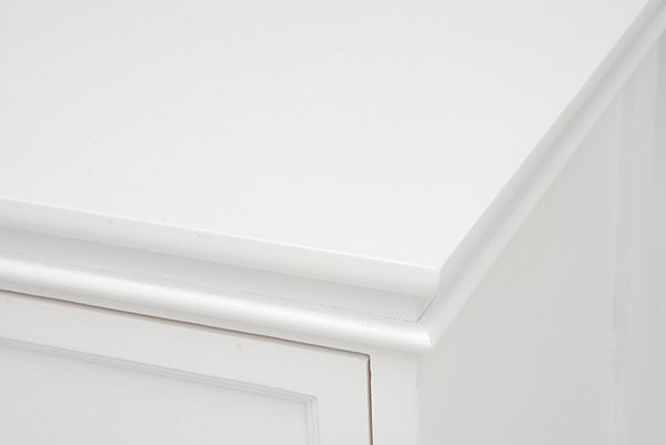 【セール!】フェミニンな白家具♪4段チェスト・ホワイト(W60×D33.5×H78.5cm)