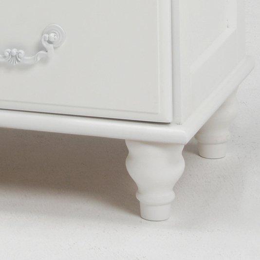 【セール!】フェミニンな白家具♪5段チェスト・ホワイト(W80×D35×H90cm)