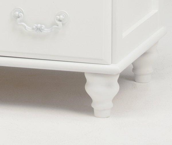 【セール!】フェミニンな白家具♪テレビ台・ホワイト(W120×D40×H45cm)