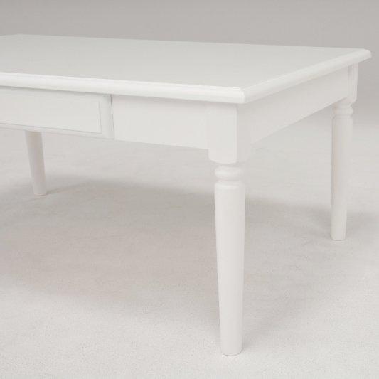 【セール!】フェミニンな白家具♪テーブル・ホワイト(W75×D45×H40cm)