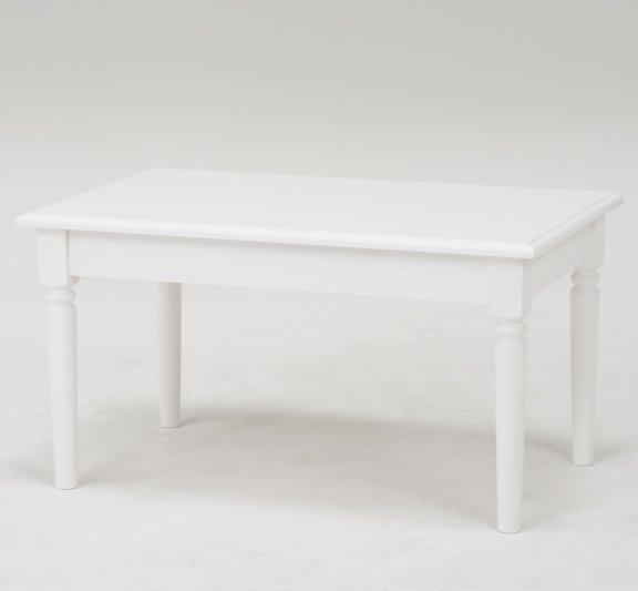 【セール!】フェミニンな白家具♪テーブル・ホワイト(W90×D60×H40cm)