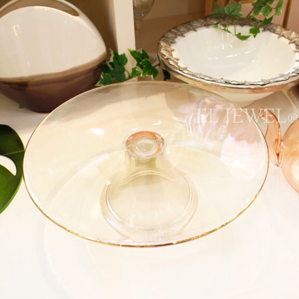 【即納可!】【オーストラリア-CRISTINA RE】ケーキスタンド「ローズガラス」(φ25.5cm)