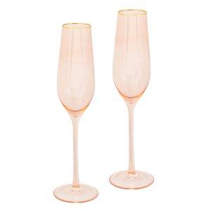 【即納可!】【オーストラリア-CRISTINA RE】シャンパングラス2個set「ローズガラス」(H26cm)