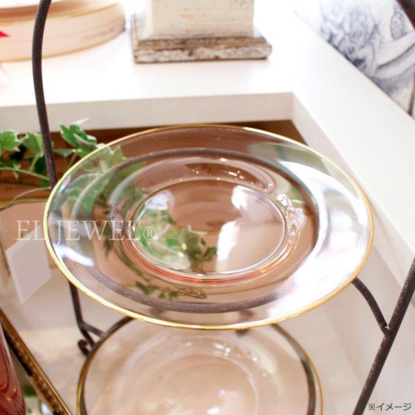 【即納可!】【オーストラリア-CRISTINA RE】ガラスプレート「ローズガラス」2個set(φ21.5cm)