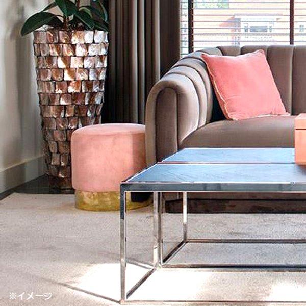 【4月入荷予定】【Richmond Interiors】オランダ・ベルベットスツール・ピンク(H41.5cm)