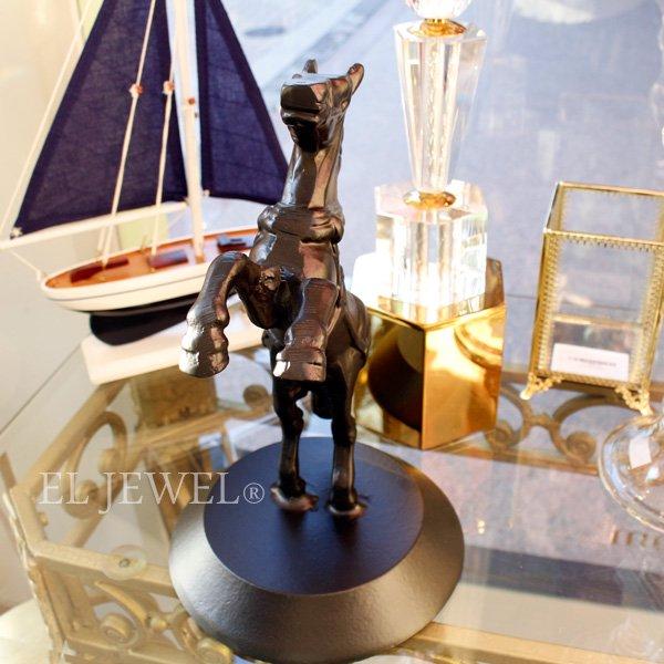 【即納可!】【Richmond Interiors-オランダ】馬のオブジェ・ブラック(H29.5cm)