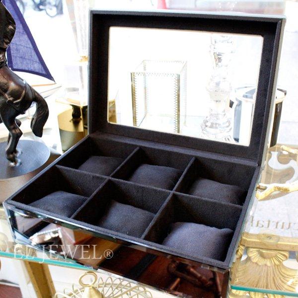 オランダ【Richmond Interiors】ウォッチコレクションボックス・スモークガラス(W32cm)