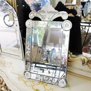 【即納可!】ベネチアンテーブルミラー(W30×H49cm)