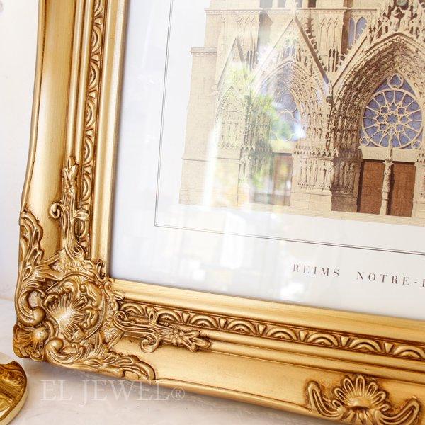 【即納可!】アンティーク調ロココ♪チャーチルウッド・額フレーム・ゴールド(W47×H62cm)