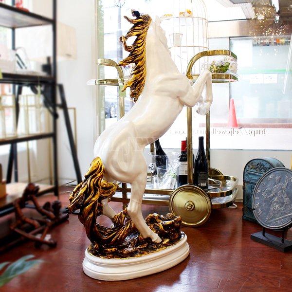 【即納可!】馬の置物・ホワイト(約W75×H100cm)