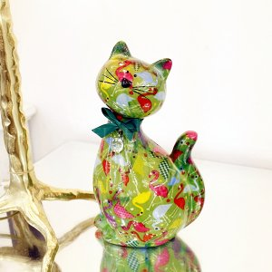 【Pommepidou-ベルギー】マネーバンク・キャット(約W13×D10.5×H22cm)<img class='new_mark_img2' src='https://img.shop-pro.jp/img/new/icons1.gif' style='border:none;display:inline;margin:0px;padding:0px;width:auto;' />