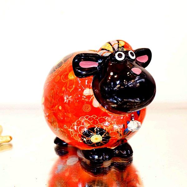 【完売】【Pommepidou-ベルギー】マネーバンク・シープ(約W11×D16.5×H14cm)