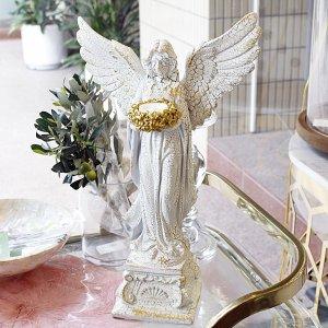 【即納可!】アンティーク調女神のキャンドルホルダー(H44cm)