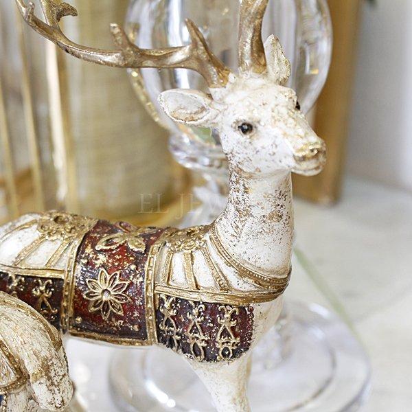 【完売】クリスマス♪バロックトナカイオブジェ レッド/ブルー(W13cm)