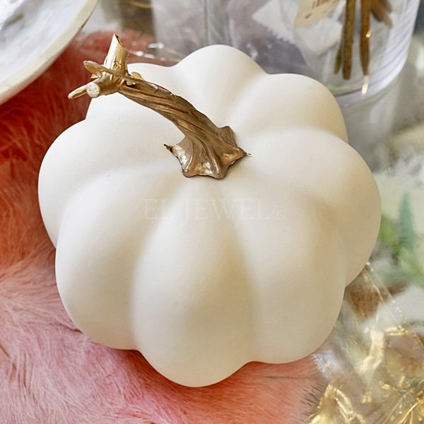 【即納可!】ホワイトパンプキン M(Φ14×H16cm)