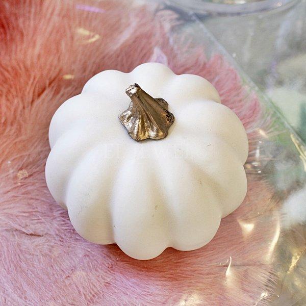 【即納可!】ホワイトパンプキン S(Φ9×H8cm)