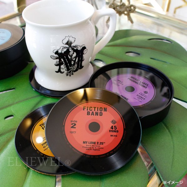 【COVENT GARDEN】レコード・コースター4枚セット(φ10cm)