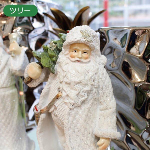 【即納可!】ホワイトガウンサンタオブジェ(ツリー/ベル)(H18cm)