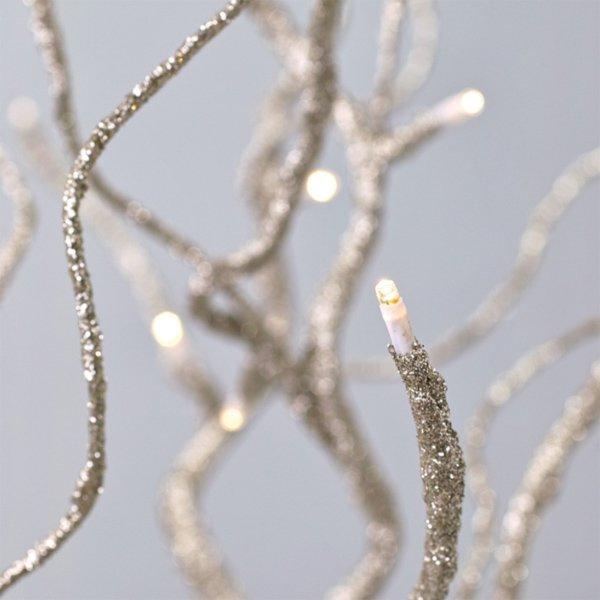 【即納可!】クリスマス♪LEDブランチツリー ゴールド Sサイズ(H65cm)